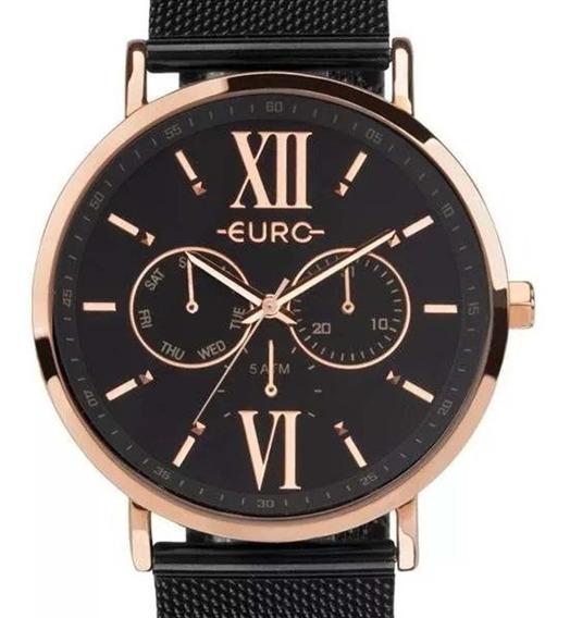 Relógio Euro Feminino Multifunção Euvd75af/4p Preto C/ Nf-e
