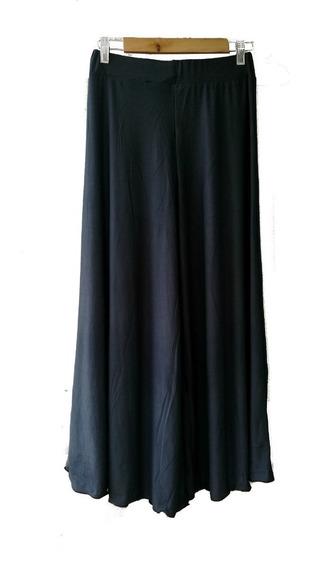 Pantalon Falda Descanso Mujer Flores Tiro Alto Largo Suelto