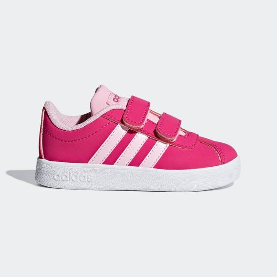 Tênis Infantil adidas Vl Court 2.0 Cmfi Rosa 21,22,23,24,25