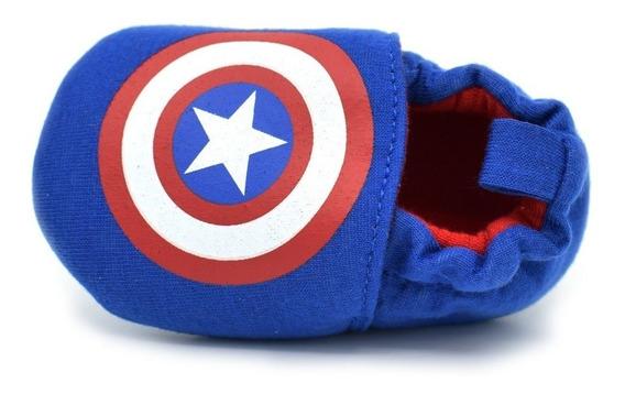 Pantufa Bebê Primeiros Passos Do Capitão América Para Meninos - Pronta Entrega