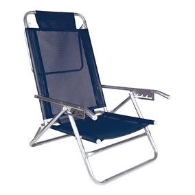 Cadeira Espreguiçadeira Mor 2137, Azul Marinho