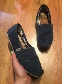 Increíbles Zapatos Flats Toms Azules 24 Originales!!