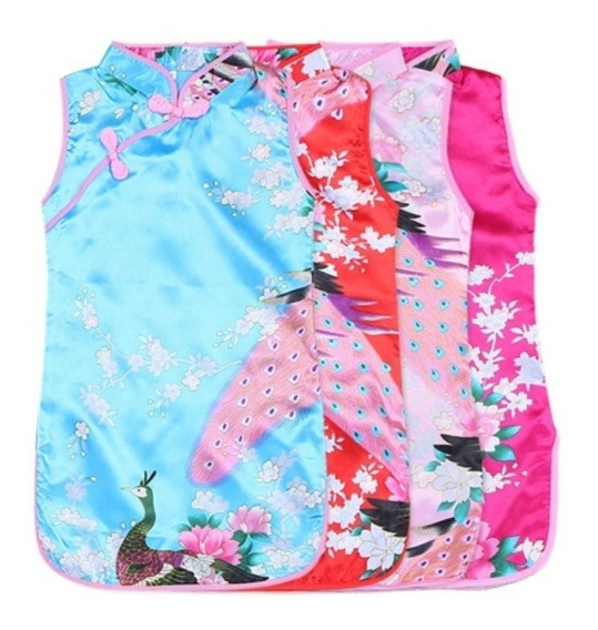 Kimonos Chinita Disfraz Vestido 4colores Para Niña Importado