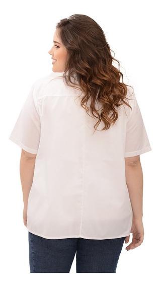 Camisa Portofem Clásica De Fibrana C/cuello - Talles Grandes