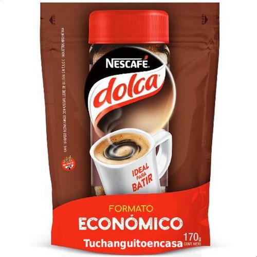 Imagen 1 de 8 de Nescafe Dolca Torrados Cafe Instantaneo 170g Doypack X1 Paq