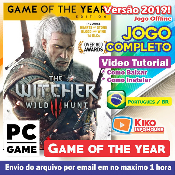The Witcher 3 Game Of The Year+18 Dlcs - Pc Digital + Brinde