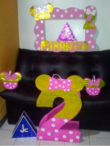 Piñata Minnie Dorado Minipiñata