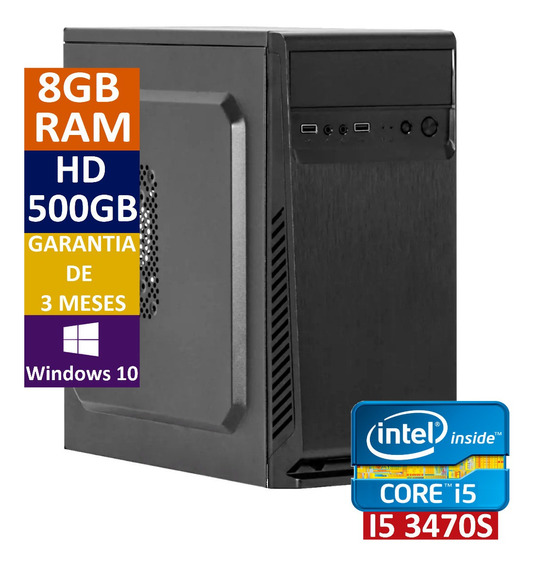 Pc Cpu Computador Intel Core I5 3470s + 500 Hd + 8gb Ram