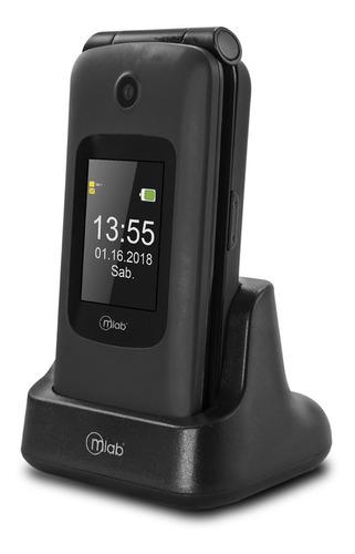 Teléfono Senior Mlab  Doble Sim Con Tapa Y Pantalla
