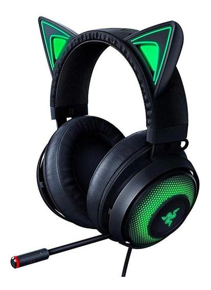 Fone de ouvido gamer Razer Kraken Kitty black e rgb