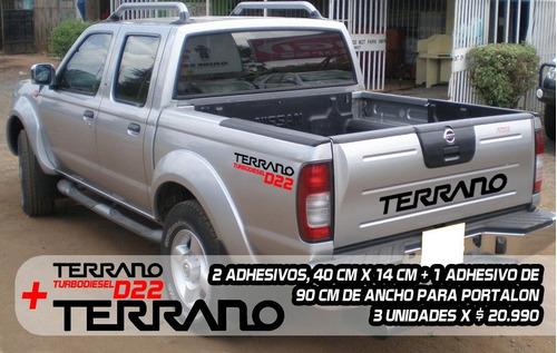 Imagen 1 de 1 de Adhesivos Nissan Terrano, Portalón Y Laterales