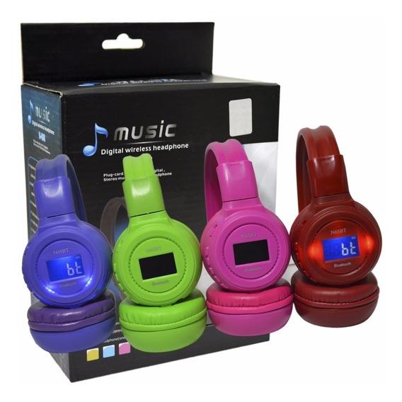 Audífonos Inalambricos Mp3 Bluetooth Con Memoria 4gb