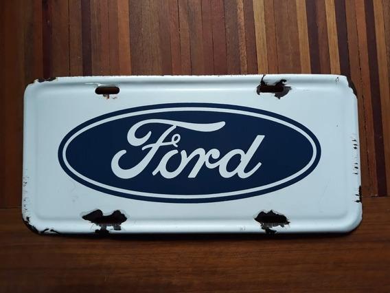 Placa Ford Anos 70