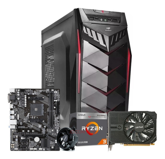 Pc Gamer Ryzen 3 2200g + 8gb Ddr4 + Gtx 1050ti