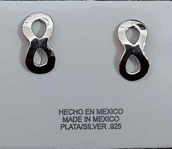 Aretes De Infinito En Plata .925 De Taxco Guerrero, Mujer