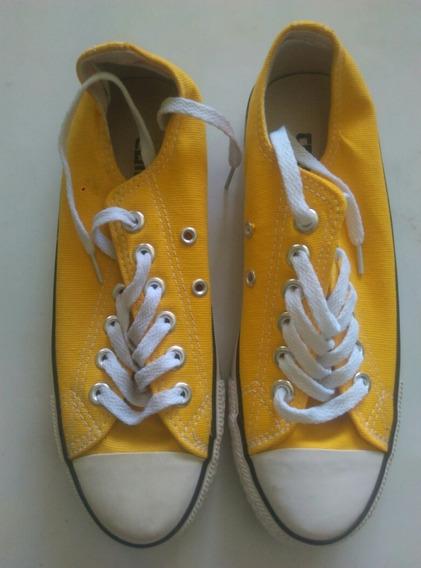 Zapatos Converse Amarillo Talla 37. (4 1/2) 20 Usa.