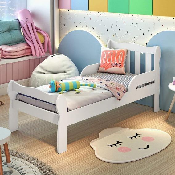 Mini Cama Infantil Com Proteção Lateral Bella Dwt
