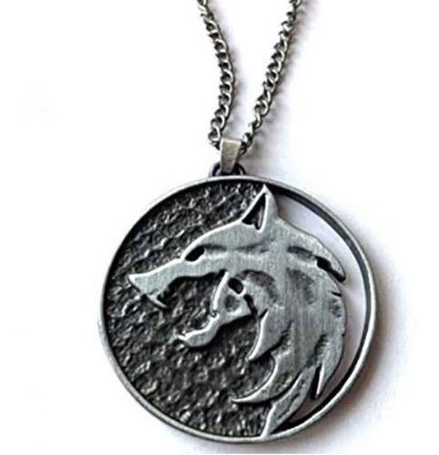 Imagen 1 de 1 de Collar The Witcher Medallon Wolf Lobo Blanco Envio Gratis