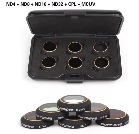Kit 6 Filtros Cpl Mcuv Nd 4 8 16 32 Mavic Pro - Novidade