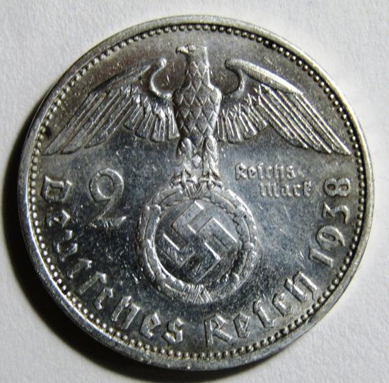 X Alemania Moneda Nazi De Plata 2 Reichsmark 1938 A