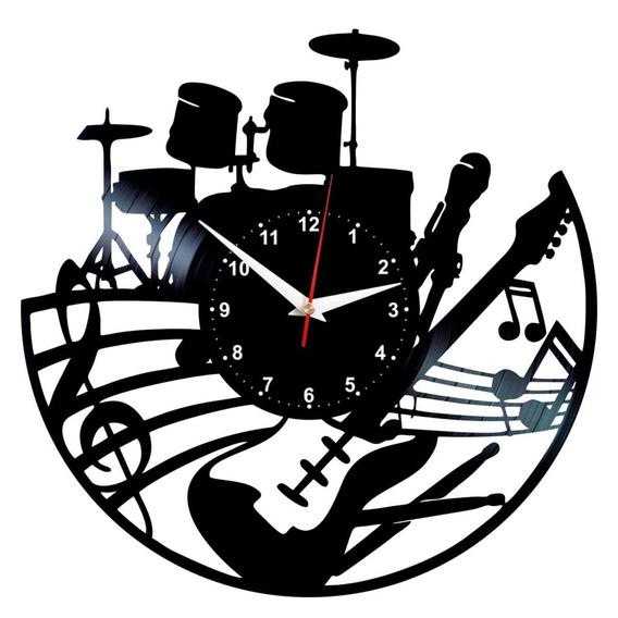 Reloj De Vinilo Para Los Amantes De Las Baterías Musicales