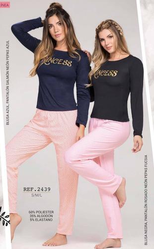 Conjunto Pijama Mujer 2 Piezas Poliéster Algodón Juvenil