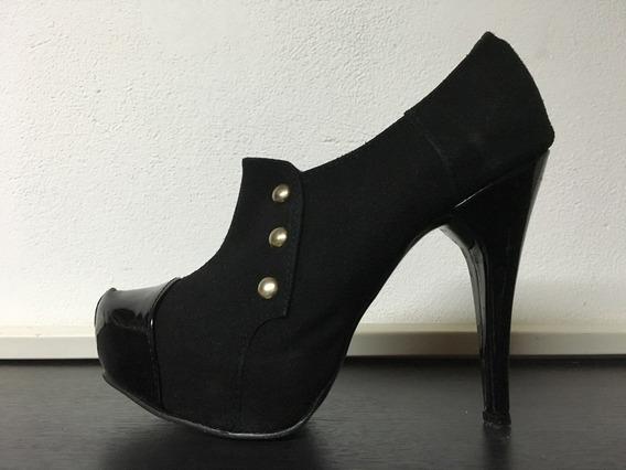 Zapatos Abotinado Con Plataforma Escondida!!!