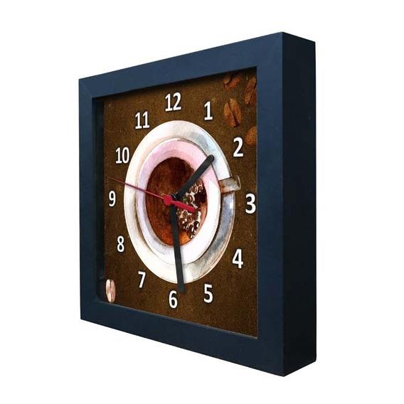 Relógio Decorativo Caixa Alta Tema Café - Qw012