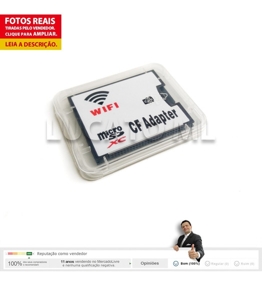 Adaptador Com Wifi Conversor De Microsd Para Compact Flash