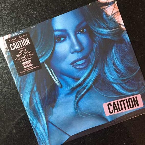 Lp Mariah Carey Caution Vinil Importado Preto Lacrado 2018