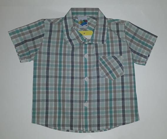 Camisa Infantil Menino Manga Curta Xadrez