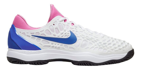 Tênis Nike Air Zoom Cage 3 Hc - White/game Royal-china Rose