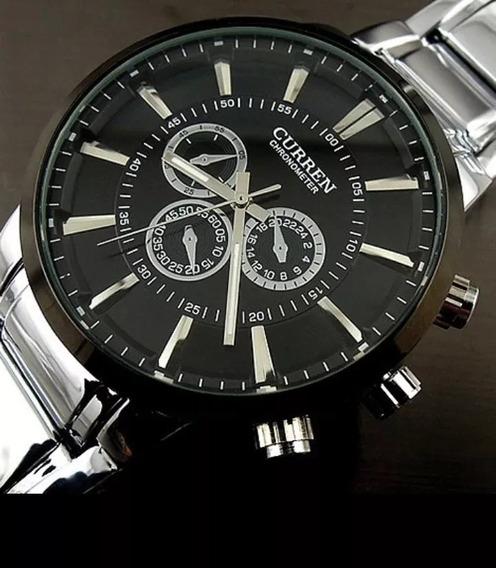 Relógio Masculino Curren-pulseira-aco 316 L Esport Promoção