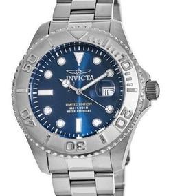 Relógio Invicta Suíço, De Quartzo, Com Mostrador Azul
