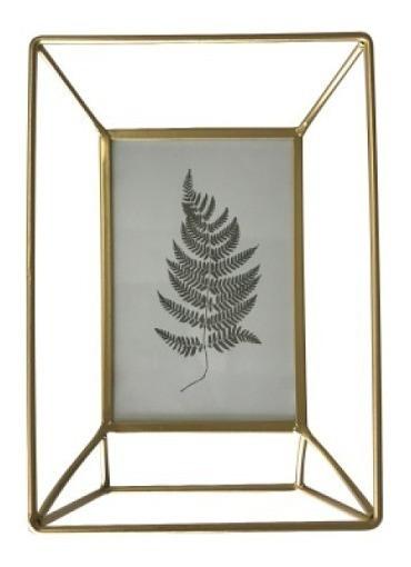 Porta Retrato Metal Wired Frame Dourado 10x15 - Urban