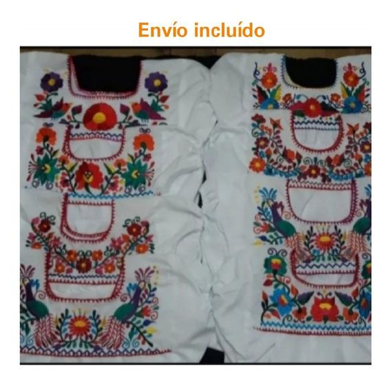 Blusa Bordada Típica Artesanal Mexicana Para Niña