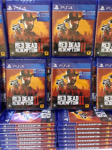Red Dead Redemption 2 Ps4 Mídia Cd Incluso Mapa