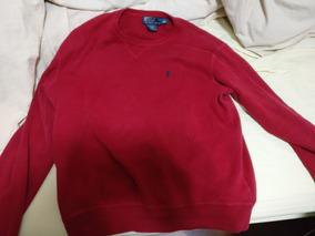 Blusa Moletom Polo Ralph Lauren Vermelho Escuro Médio