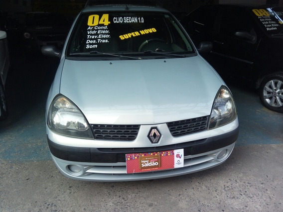 Clio Sedan 1.0 16v Authentique 4p 2004 Ar Condicionado