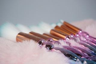 Set De Brochas Maquillaje 3d Rosa-azul