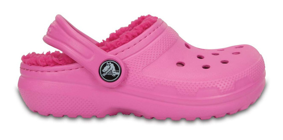 Zapato Crocs Niña Classic Lined Peluche Rosa