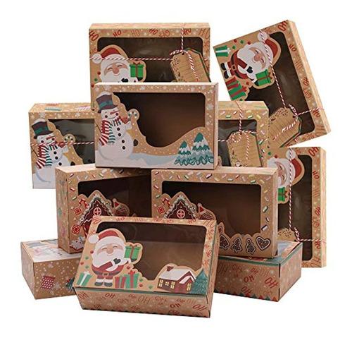 Imagen 1 de 7 de 15 Cajas De Regalo De Galletas De Navidad