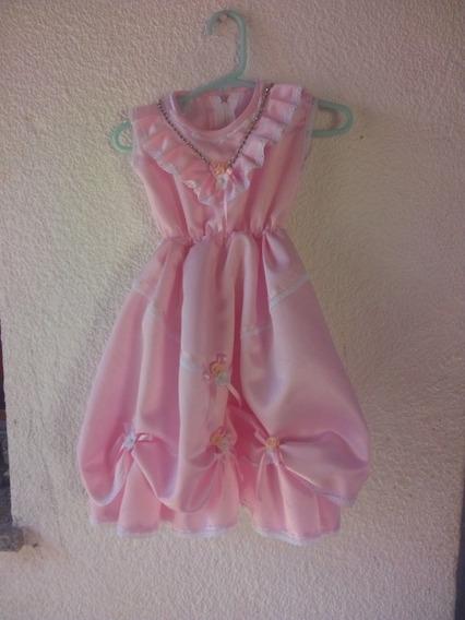 Vestidito Bautismo Color Rosa Nuevo