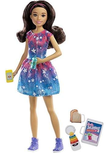 Imagen 1 de 5 de Barbie Skipper Niñera Muñeca, Pelo Negro