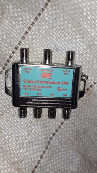 Chave Comutadora 3x4 Vhf/uhf/sat 174-2150 R$ 7,99 Cd.