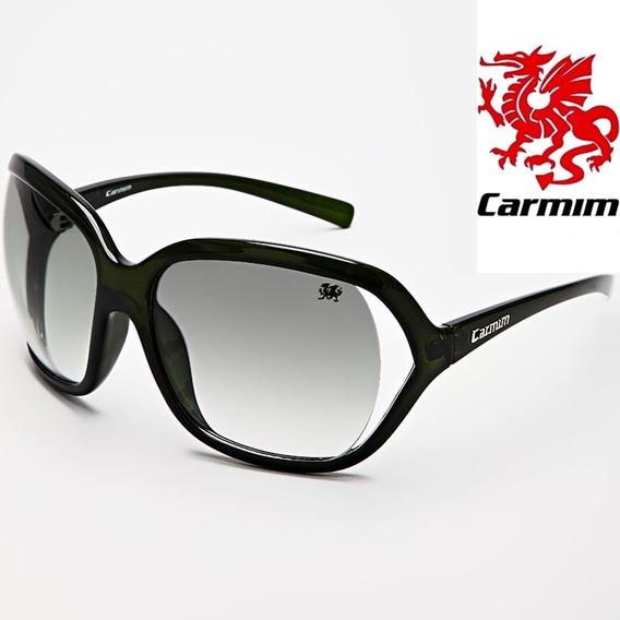 Oculos De Sol Feminino Original Carmim Vintage Retro Verde