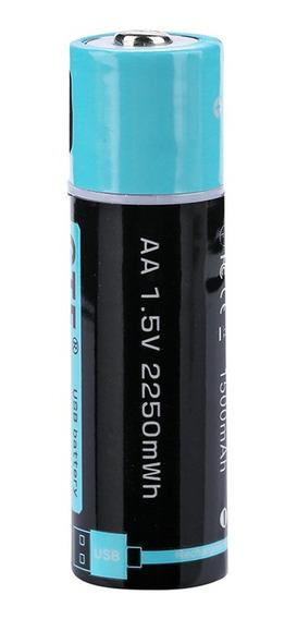 Pilha Recarregável Li-polímero Aa 1,5v 1500mah C/micro Usb