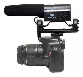 Microfone Direcional Greika Gk-sm10 Para Câmeras Youtube