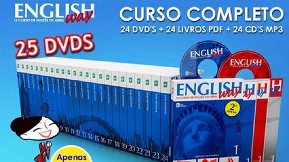 Curso Completo De Inglês - 24 Volumes - Em Dvds