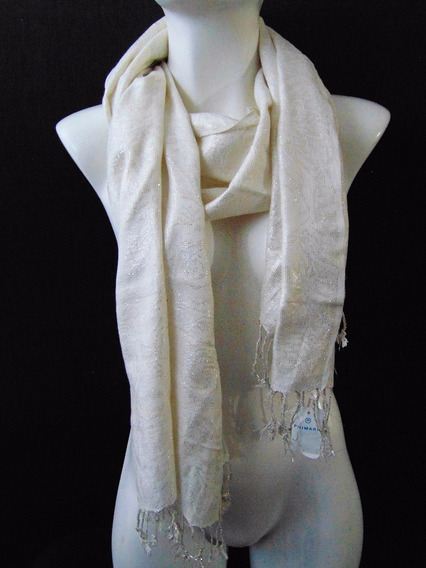 Atmosphere Pashmina Chal Chalina Ivory Cream